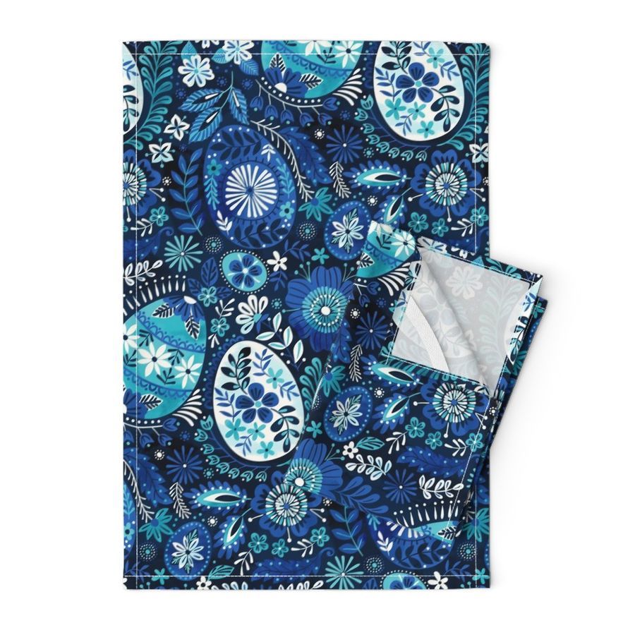 Shop Blue and Linen Tea Towels | Roostery Home Decor Products